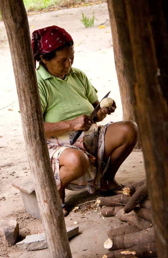 guyana woman cassava